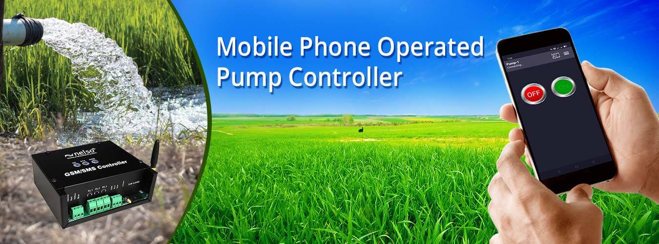 mobile operated gsm pump controller for agriculture